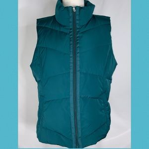 Land's End Teal Puffer Down Insulated Vest M